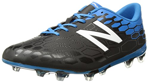 Metal Soccer Cleats - New Balance Men's Visaro 2.0 Control FG v2 Soccer Shoe, Black/Bolt, 13 2E US