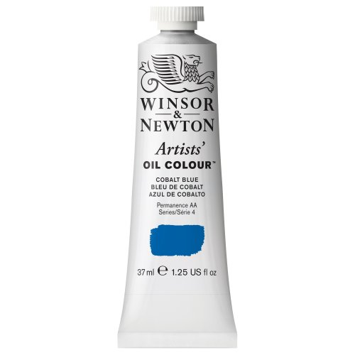 Blue Oil Painting (Winsor & Newton Artists Oil Color Paint Tube, 37ml, Cobalt Blue)