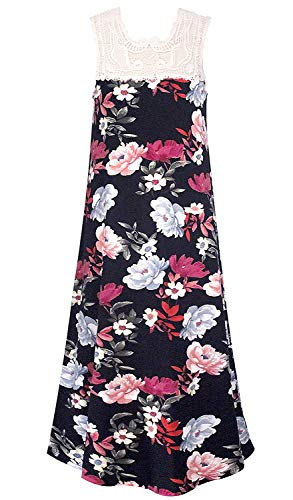 Smukke, Big Girls Beautiful Dresses (with Options), 7-16 (Black Rose, 16)