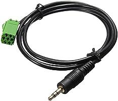 Cable adaptador de entrada auxiliar de 3,5 mm para Renault Clio ...