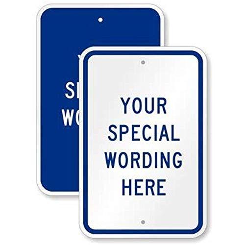 Diuangfoong Customizable Vertical Blue Sign Template High Intensity Aluminum Sign 12