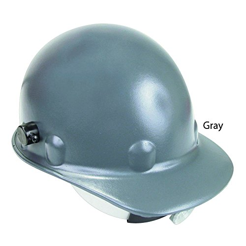 (Fibre-Metal by Honeywell P2HNQRW09A000 Super Eight Fiber Glass Ratchet Cap Style Hard Hat with Quick-Lok, Grey)