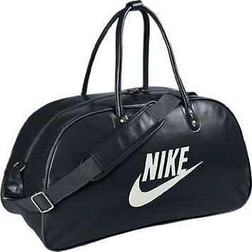 Nike Herren Sporttasche im Retro Design, Schwarz Weiß