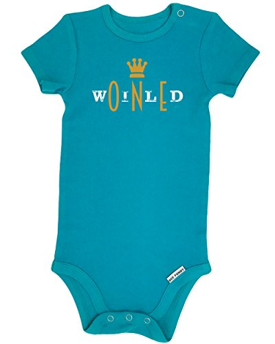 Bee Funny Baby Boy First Birthday Outfit | Wild One, Turquoise, 12-18 (1st Birthday Iron)