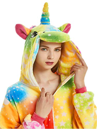 Plus Size Halloween Costumes for Women Adult Onesie Men Unicorn Christmas Pajama -