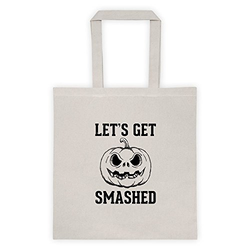 Lest Get Smashed Halloween Gamer Horror Cool Funny Message Outdoor Humor Grocery Shopping Tote (Famous Halloween Phrases)