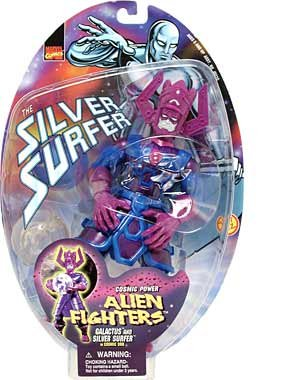 Alien Fighters Galactus and Silver Surfer in Cosmic, used for sale  Delivered anywhere in USA