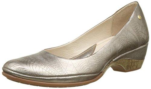 Pikolinos Coimbra W7l_v17, Zapatos de Tacón para Mujer Plateado (Stone)