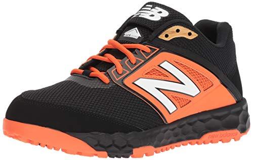 New Balance Men's 3000v4 Turf Baseball Shoe, Black/Orange, 10 D US -