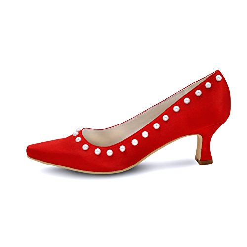 Evening Shoes Toe Party Pointed EH073 Pumps Red Sandals Women's Wedding Ellenhouse 8tqR1w