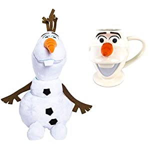 Disney Frozen 2 Olaf Plush Toy 10.5 inch and Full Size Figural Ceramic Mug