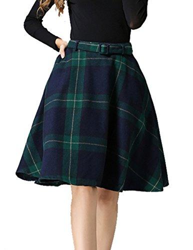 Vintage Wool Plaid Skirt - 3