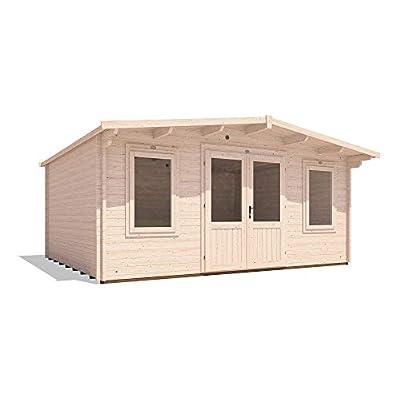 Dunster House Garden Log Cabin Office 5m x 4m 45mm