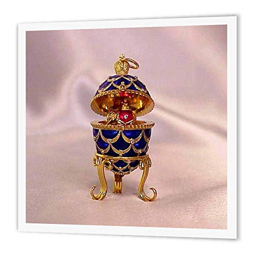- 3dRose ht_3148_2 Picturing Pinecone Faberge Egg Iron on Heat Transfer for White Material, 6 by 6-Inch