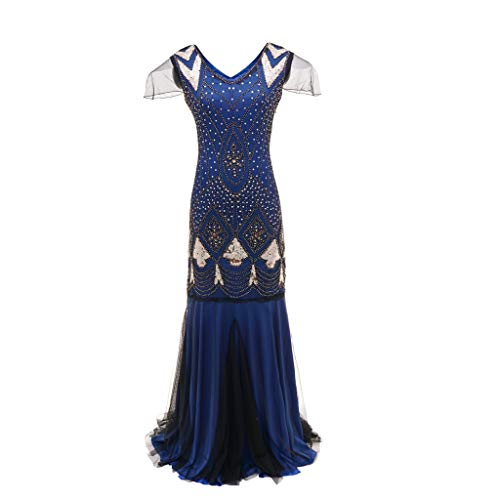 HYIRI ✈Party Flapper Gatsby Dress,Women's Vintage Novelty Bead Fringe Sequin Embellished Dress