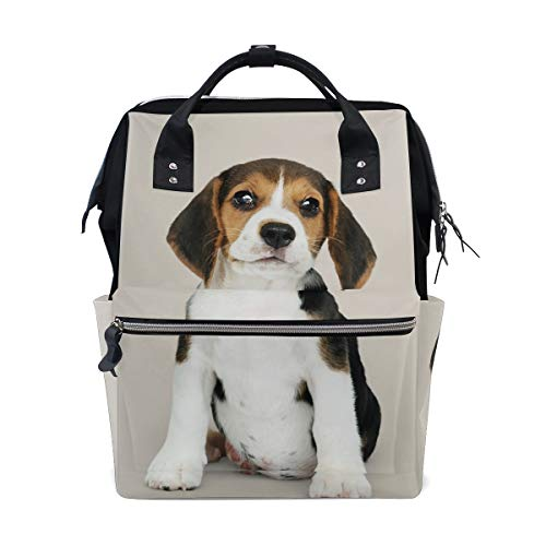 (Puppy Solo Portrait Dog Bag Backpack Large Capacity Muti-Function Travel Bag for Mummy Women)