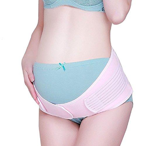 Maternity Belt Belly Band for Pregnancy Provides Pelvic Lower Back Support, One Size (Pink)