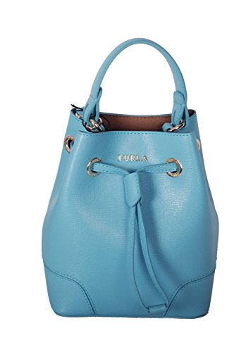Furla Stacy Mini Drawstring Bucket bag (Turquoise) by Furla