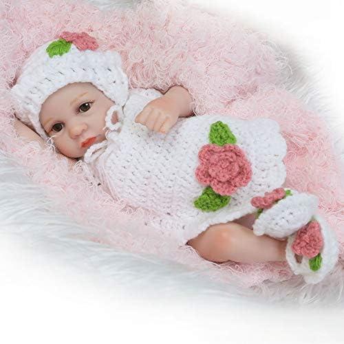 leenBonnie Bambole del Bambino rinato del Silicone da 10 Pollici Vivi Bambole Reali realistiche degli Occhi dei Bambini Bebe Reborn Toys Toys realistici