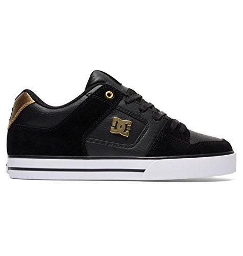 DC Men's Pure SE Skateboarding Shoe, Black/Gold, 14