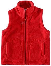 Boys Vest Fleece Solid Color