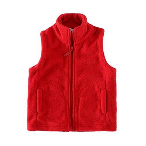 - Mud Kingdom Boys Vest Jacket Red Fleece Lightweight Size 6/7