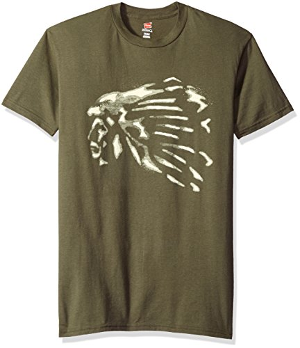 Hanes Men's Graphic Tee-Americana Collection, the Chief Fatigue Green, ()