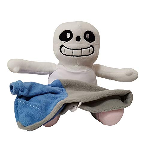 YCZTXSJT Sans Stuffed Plush Doll 10'' Hugger Cushion Cosplay Doll (White)