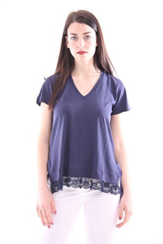Inserts With Cotton Blue shirt Lace T Mujer Seventy zWBA8YnP8