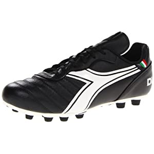 Diadora Soccer Men's Brasil Classic MD PU Soccer Cleat,Black/White,10 M US
