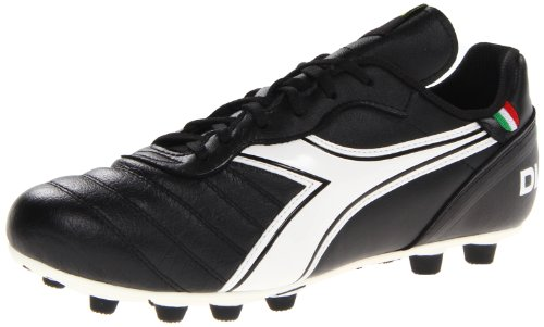 Diadora Soccer Men's Brasil Classic MD PU Soccer Cleat,Black/White,7 M (Diadora Soccer Gear)