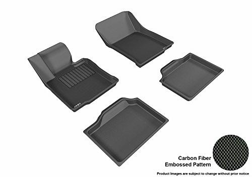 3D MAXpider All 2 Row Custom Fit Floor Mat for Select Mini Countryman Models - Kagu Rubber (Black)