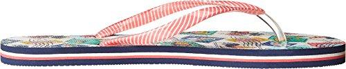 Vera Bradley Kvinna Flip Flops Kubanska Frimärken