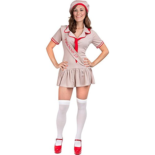 Tan Sexy Girl Scouts Costume (Size: Small 4-8) -