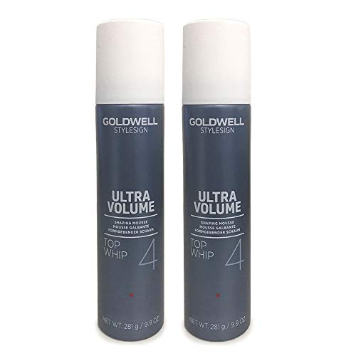Goldwell StyleSign 4 Ultra Volume Top Whip Shaping Mousse 9.9 Ounce (2 Pack) ()