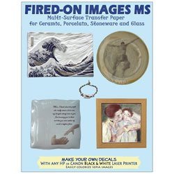 (Nasco Fired-On Images Multi-Surface Transfer Paper - Pkg. of 10 8-1/2