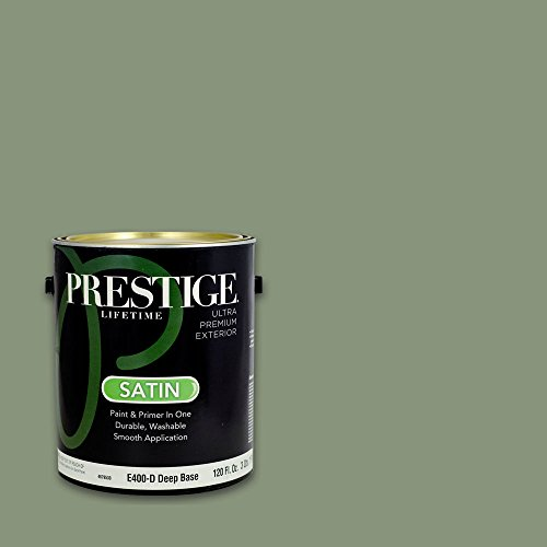(Prestige, Greens and Aquas 5 of 9, Exterior Paint and Primer In One, 1-Gallon, Satin, Garden Sage)