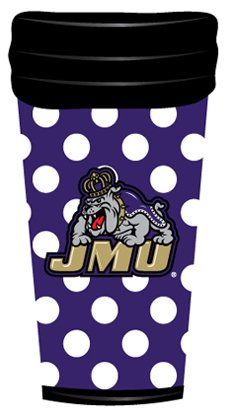 Dots Tumbler (NCAA James Madison Dukes Coffee Tumbler Dots)