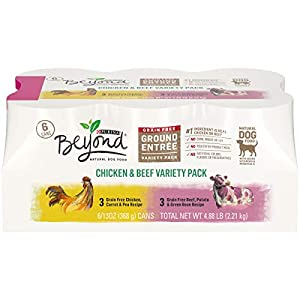 Purina Beyond Grain Free, Natural Pate Wet Dog Food; Chicken & Beef Recipe Variety Pack - (2 Packs of 6) 13 oz. Trays 117