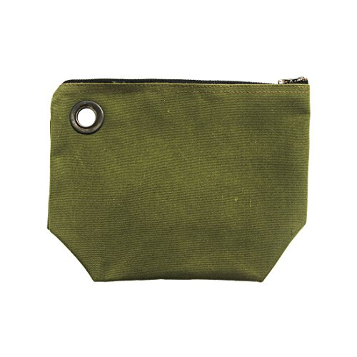 Water Resistant Canvas Tool Bag Handmade by Hide & Drink :: Olive Solid