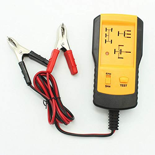 Fenteer 12V Car Automotive Relay Tester Relay Coil Resistance Contacts Indicator Kit
