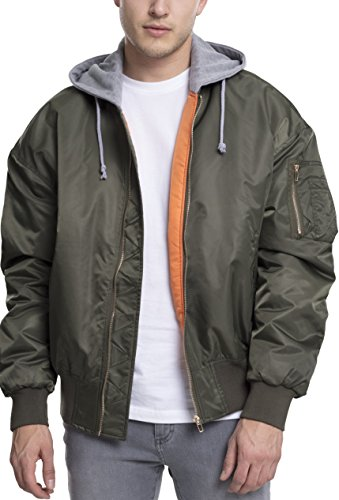 Gry Hombre Mehrfarbig Classics Bomber 1161 Chaqueta Hooded Oversized Jacket Urban para Olv C8qUv8