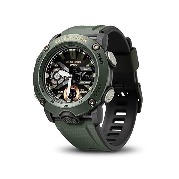 Casio Reloj Analógico-Digital para Hombre de Cuarzo con Correa en Resina GA-2000-3AER 3