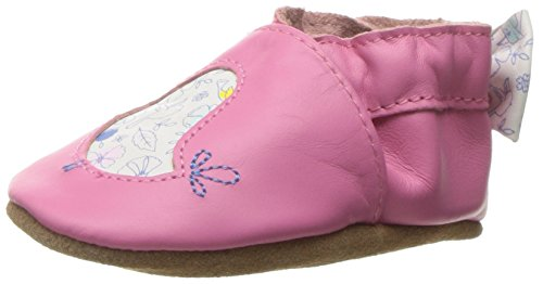 Robeez Girls' Soft Soles with Bow Back Slip-On, Rockin' Robin, 18-24 Months M US Infant