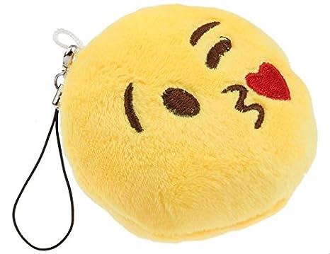 Heart Kiss Emoji - Llavero de gamuza: Amazon.es: Oficina y ...