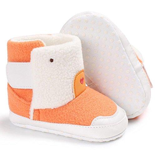 Igemy 1Paar Baby Mädchen Jungen Weiche Sole Booties Snow Boots Säugling Kleinkind Neugeboren Warming Schuhe Orange