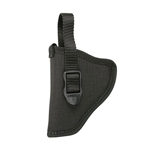 BLACKHAWK! Black Nylon Hip Holster, Size 04, Left Hand, (Barrel Large Autos, Open End)