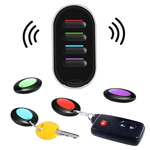 Hizek Key Finder, Wireless Key Tracker Locator Caller Beeper House Smart Finder with LED Flashlight and 4 Receivers, Remote Control by Hizek