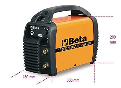 Beta 1860 K/160 A DC mano Electrodo máquina de soldar con cable, martillo