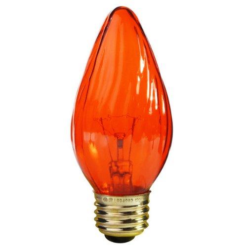 Satco S3366 120V Medium Base 25-Watt F15 Light Bulb, Amber